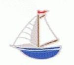 Boat - Enamel Charm